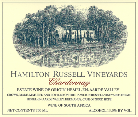 2014 Hamilton Russell Vineyards Chardonnay Hemel-en-Aarde Valley