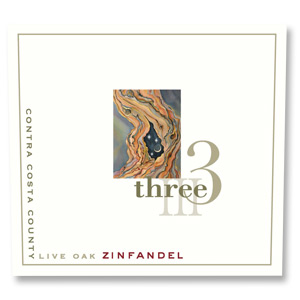 2012 Three Wine Company Zinfandel Live Oak Contra Costa County