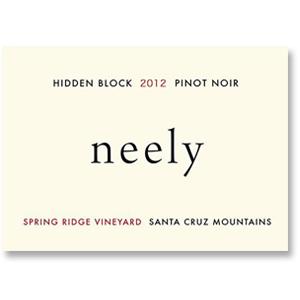 2010 Neely Pinot Noir Hidden Block Spring Ridge Vineyard Santa Cruz Mountains