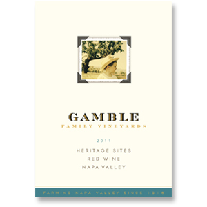 2011 Gamble Family Heritage Sites Old Vine Red Blend