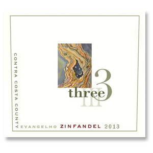 2013 Three Wine Company Zinfandel Evangelho Contra Costa County