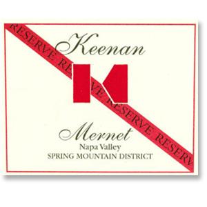 2012 Robert Keenan Winery Mernet Reserve Spring Mountain District