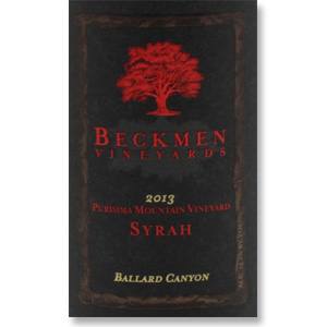 2013 Beckmen Vineyards Syrah Purisima Mountain Vineyard Ballard Canyon
