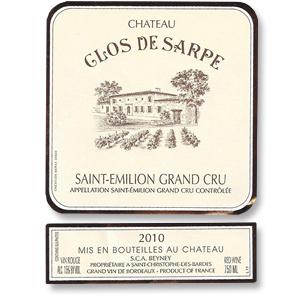 2010 Clos De Sarpe Saint Emilion