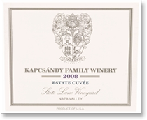 2007 Kapcsandy Family Winery Estate Cuvee State Lane Vineyard Yountville