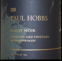 2009 Paul Hobbs Winery Chardonnay Ulises Valdez Vineyard Russian River Valley