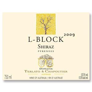 2009 Domaine Terlato & Chapoutier Shiraz L-Block Pyrenees