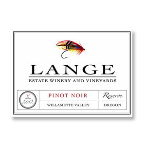 2012 Lange Winery Pinot Noir Reserve Willamette Valley