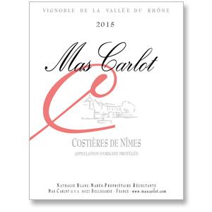 2015 Mas Carlot Costieres de Nimes Rose