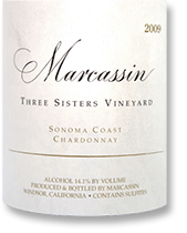 2009 Marcassin Chardonnay Three Sisters Vineyard Sonoma Coast