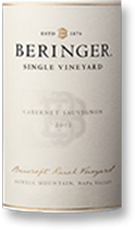 2012 Beringer Vineyards Cabernet Sauvignon Bancroft Ranch Howell Mountain Napa Valley