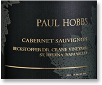 2012 Paul Hobbs Winery Cabernet Sauvignon Beckstoffer Dr Crane Vineyard Napa Valley