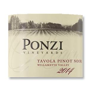 2014 Ponzi Vineyards Pinot Noir Tavola Willamette Valley