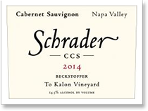 2012 Schrader Cellars Cabernet Sauvignon Ccs Beckstoffer To Kalon Vineyard Napa Valley