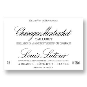 2014 Louis Latour Chassagne Montrachet Cailleret 1er Cru