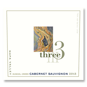 2013 Three Wine Company Cabernet Sauvignon Suscol Creek Block 5 Napa Valley
