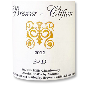 2010 Brewer-Clifton Chardonnay 3-D Vineyard Sta. Rita Hills