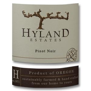 2014 Hyland Estates Pinot Noir Estate Willamette Valley