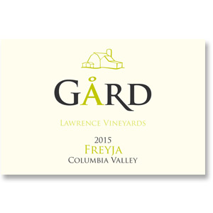 """2015 Gard Vintners """"Freyja"""" Lawrence Vineyards Columbia Valley"""