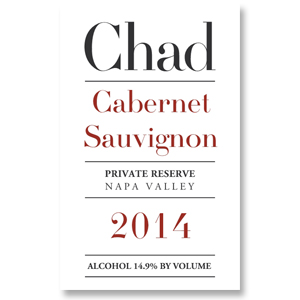 2014 Chad Cabernet Sauvignon Private Reserve Napa Valley