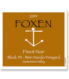 2014 Foxen Winery Pinot Noir Block 43 Bien Nacido Vineyard