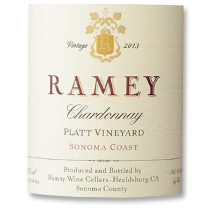 2013 Ramey Wine Cellars Chardonnay Platt Vineyard Sonoma Coast