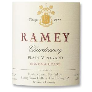 2013 Ramey Wine Cellars Chardonnay Platt Vineyard Sonoma Coast