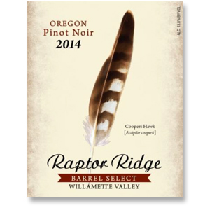 2014 Raptor Ridge Winery Pinot Noir Barrel Select Willamette Valley
