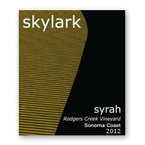 2012 Skylark Syrah Rodgers Creek Vineyard Sonoma Coast