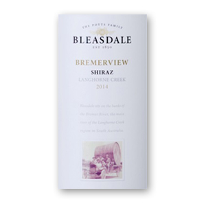 2014 Bleasdale Vineyards Bremerview Langhorne Creek Shiraz
