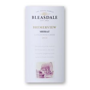 2014 Bleasdale Vineyards Bremerview Langhorne Creek Shiraz