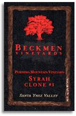 2009 Beckmen Syrah Clone 1 Purisima Mountain Vineyard Santa Ynez Valley