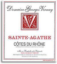 2010 Domaine Georges Vernay Cotes Du Rhone Sainte Agathe