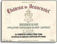 1990 Chateau de Beaucastel Chateauneuf-du-Pape Blanc