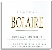 2013 Chateau Bolaire Bordeaux Superieur