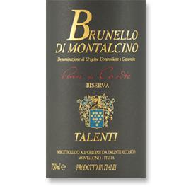 2010 Talenti Brunello di Montalcino Pian Di Conte Riserva DOCG