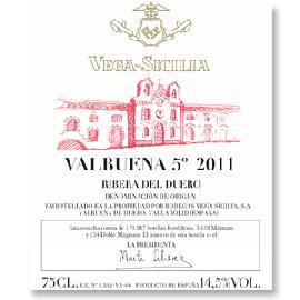 "2011 Bodegas y Vinedos Vega Sicilia Valbuena ""5"" Ribera del Duero"