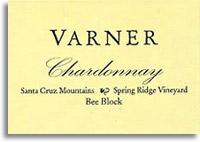2010 Varner Chardonnay Spring Ridge Vineyard Bee Block Santa Cruz Mountains
