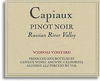 2010 Capiaux Cellars Pinot Noir Widdoes Vineyard Russian River Valley