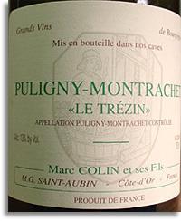 2012 Domaine Marc Colin Puligny-Montrachet Le Trezin