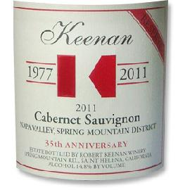 2011 Robert Keenan Winery Cabernet Sauvignon Reserve Spring Mountain District