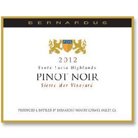 2012 Bernardus Pinot Noir Sierra Mar Santa Lucia Highlands