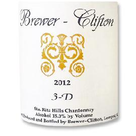 2012 Brewer-Clifton Chardonnay 3-D Vineyard Sta. Rita Hills