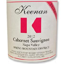 2012 Robert Keenan Winery Cabernet Sauvignon Reserve Spring Mountain District