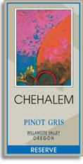 2009 Chehalem Pinot Gris Reserve Willamette Valley