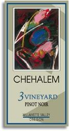 2009 Chehalem Pinot Noir 3 Vineyard Willamette Valley