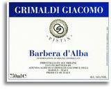 2012 Giacomo Grimaldi Barbera d'Alba Pistin
