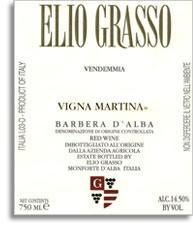 2011 Elio Grasso Barbera d'Alba Vigna Martina