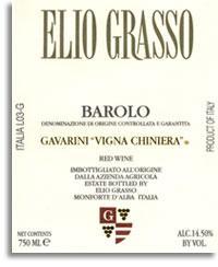 2010 Elio Grasso Barolo Gavarini Vigna Chiniera