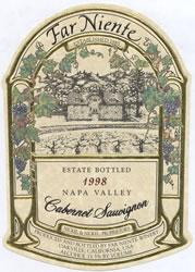 1995 Far Niente Winery Cabernet Sauvignon Estate Bottled Napa Valley